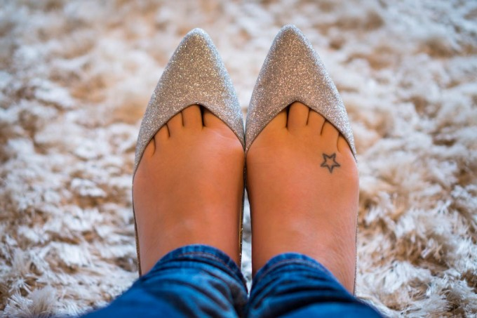 Silver Zara Pumps