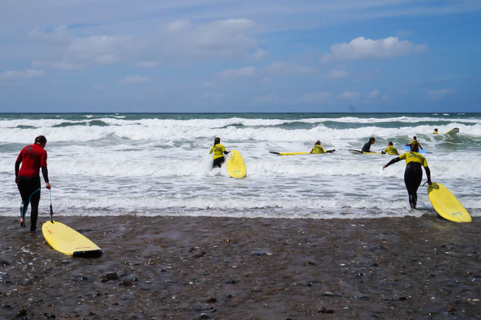 Surfing and yurting